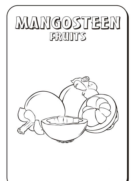 free mangosteen coloring pages pictures