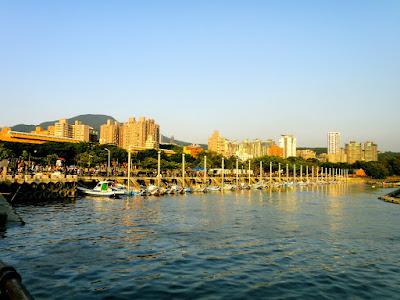 Tamsui Pier at Taiwan New Taipei City