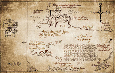 El Hobbit the hobbit peter jackson tolkien mapa thorin