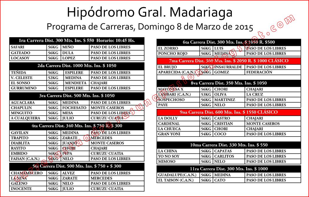 P. DE LOS LIBRES - PROGRAMA