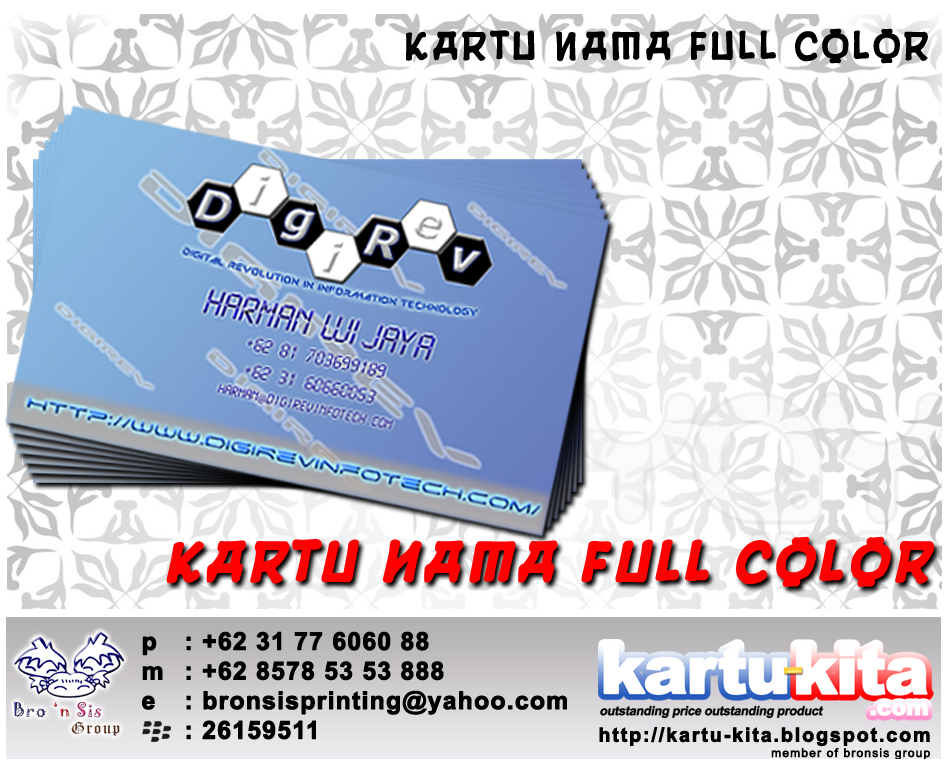Kartu-Kita.Com: Kartu Nama Kartu Tanda Pengenal Name Card Full Color ...