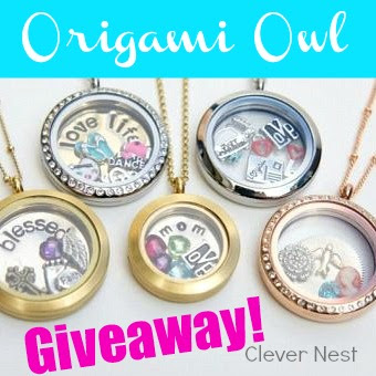 Win $35 of ORIGAMI OWL on clever nest blog!