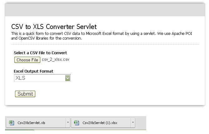 Convert Csv To Xlsx Java Servlet Example Part 4 Thinktibits