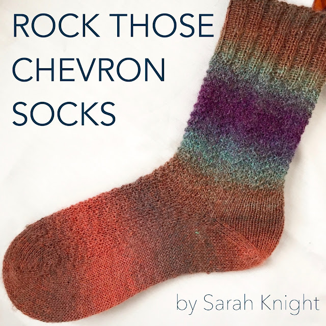 Rock Those Chevron socks - free knitting pattern by Sarah Knight on Crafts from the Cwtch blog
