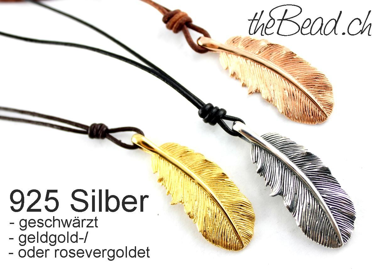 Silberfedern in verschiedenen Farben  neu bei www.thebead.ch