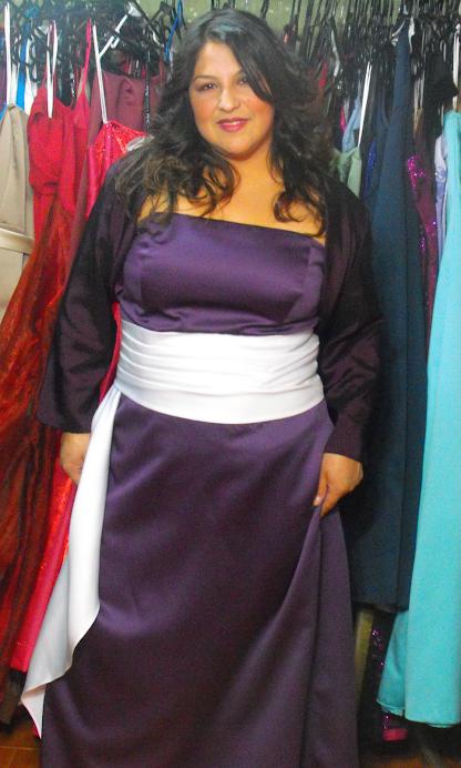 vestido rasso arandano strapples talla 48