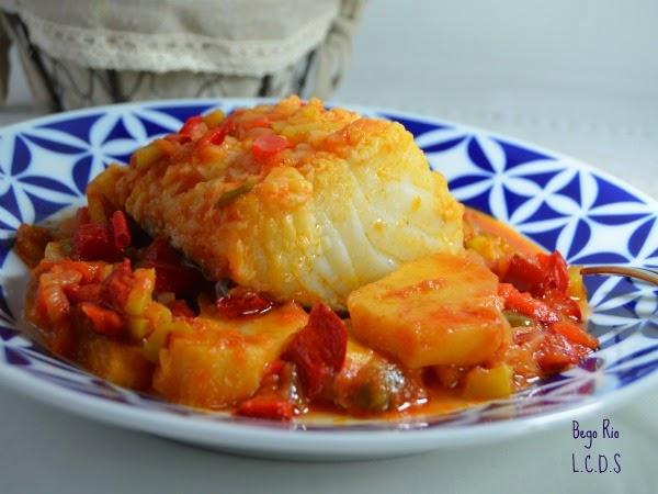 La cocina de samira bacalao al horno con verduras y patatas for Como cocinar bacalao al horno