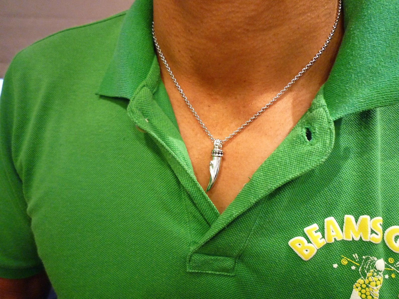 大好きなオオトカゲのペンダントネックレスは一生の宝物。