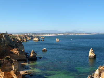 The Lagos coast viewed from Ponta da Piedade