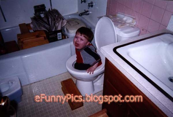 Baby Fell Into The Toilet