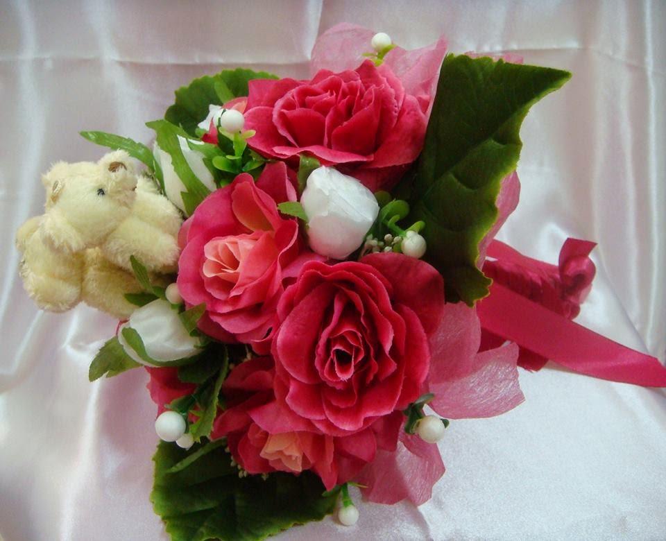Bunga Tangan dgn Teddy Bear
