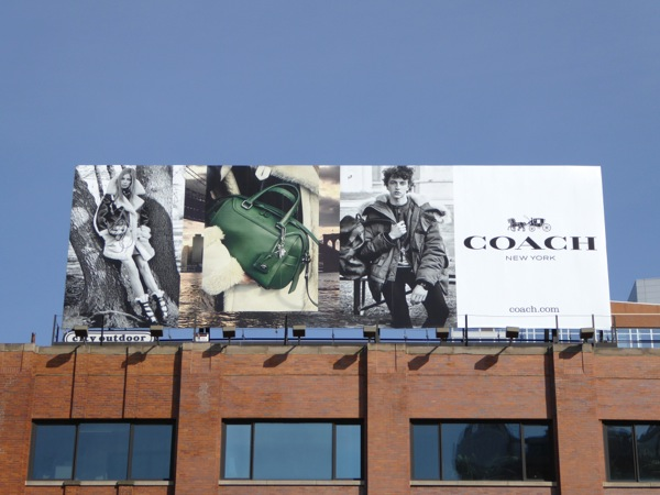 Coach FW15 billboard High Line NYC