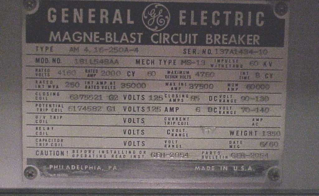 GE5kVMagnaBlastBreaker Nameplate magne blast wiring diagram diagram wiring diagrams for diy car magne blast wiring diagram at mifinder.co