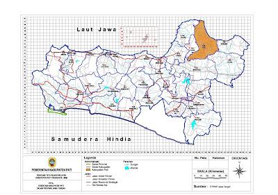 Peta Orientasi Kabupaten Pati Dalam Jawa Tengah