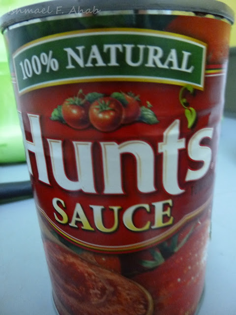 A can of tomato sauce I used for afritada