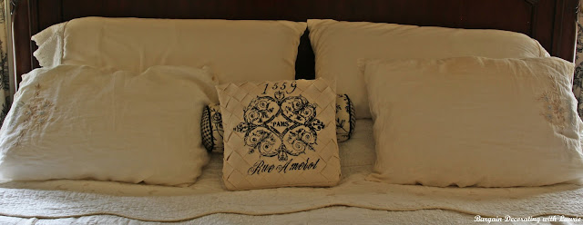 Frenchy Pillow-Bargain Decorating with Laurie