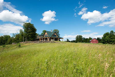 Sitting atop a mountain, the timber frame home called Night Pasture Farm is the perfect representation of life in Vermont.