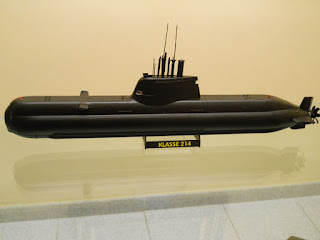 maqueta del submarino alemán clase 214