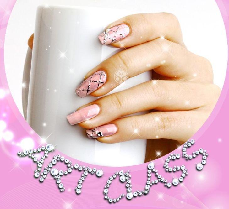 SARA NAIL: Pink Nail Art , Pink Nail Art Tutorial, Lovely Nail Art