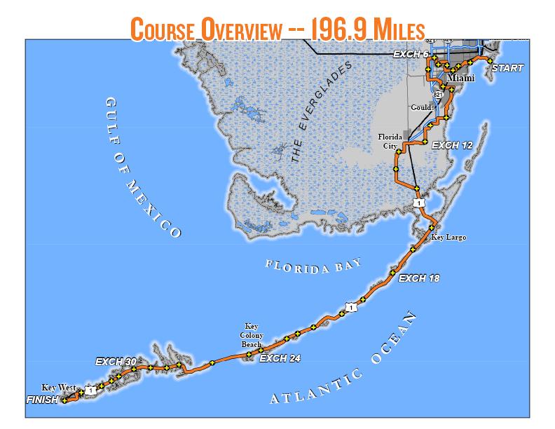 Just Lealah Ragnar Relay Florida Keys Day Two Leg - Florida keys us map