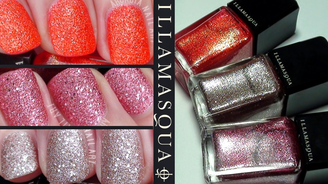 Illamasqua Nail Varnish, Marquise, Fire Rose and Trilliant