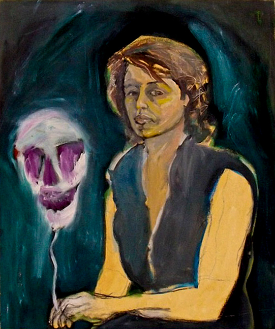 Georgia Stafford, Self-Portrait with Hot Air Death Mask (1983)