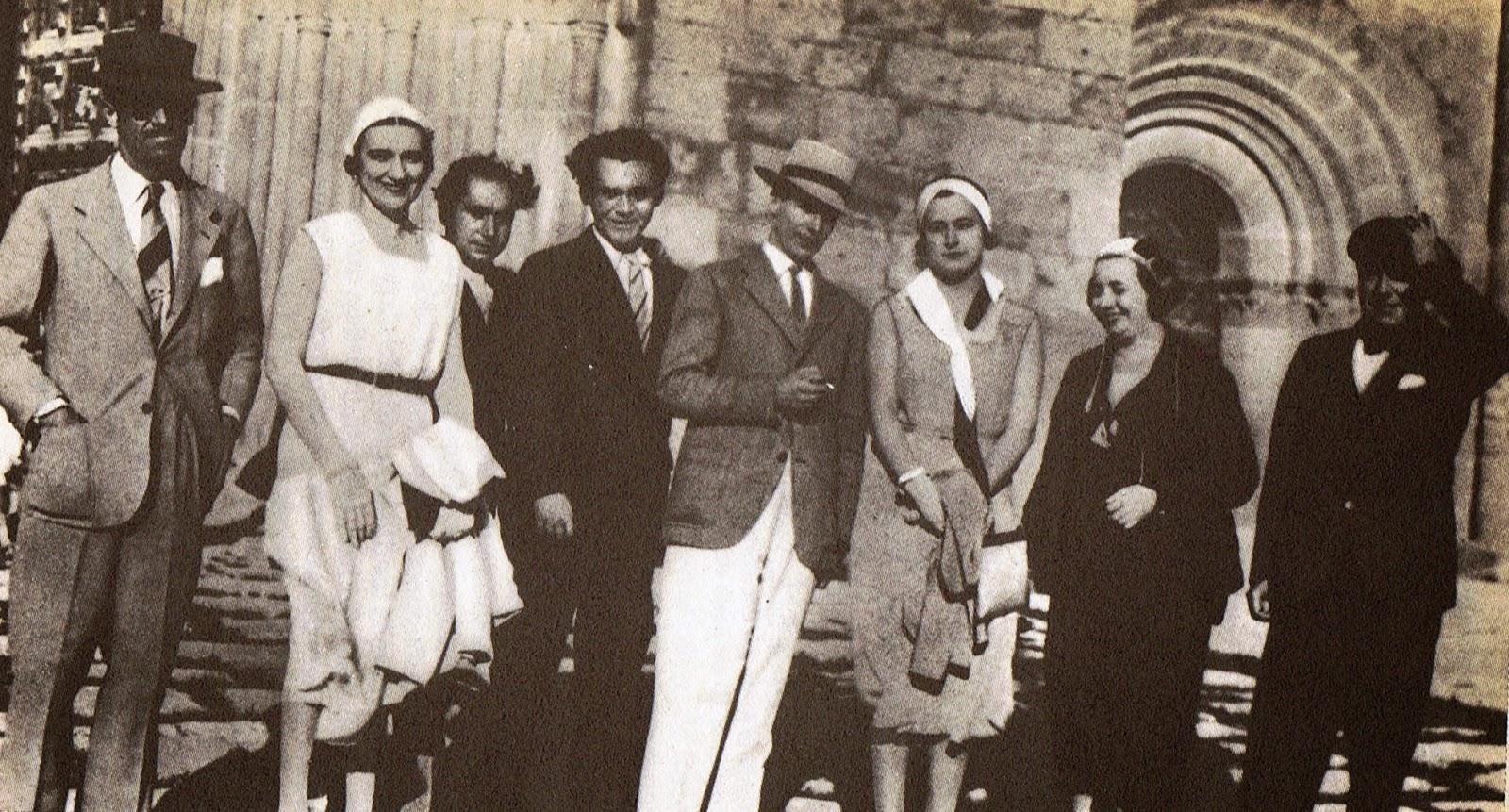 Federico en junio de 1936 en una visita al conde de Romanones