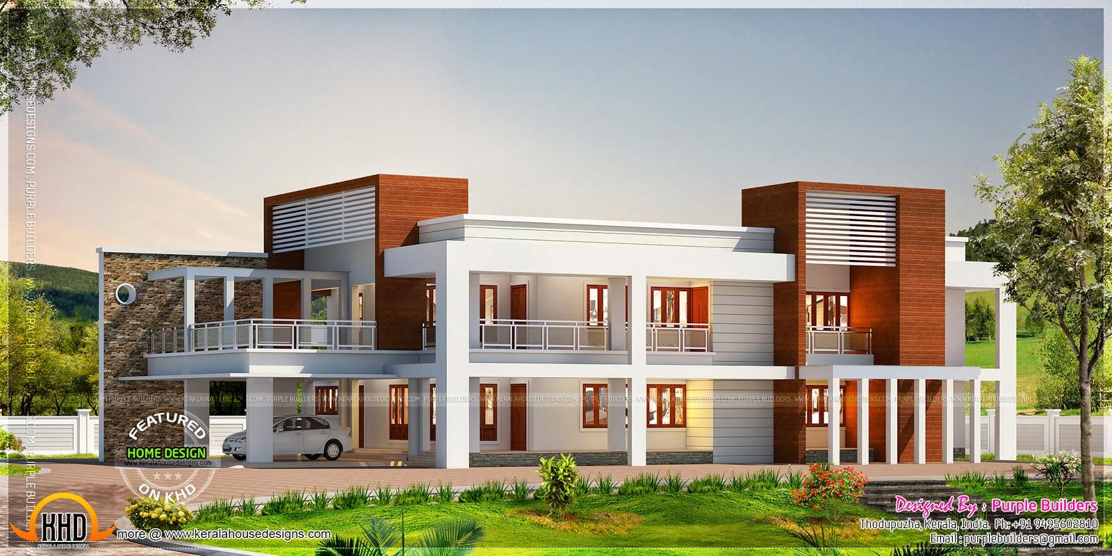 Big contemporary home kerala home design and floor plans for Big contemporary houses