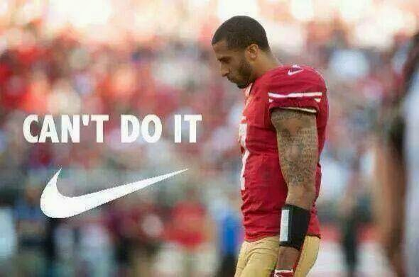 Can't do it. - #kaepernickhaters #49ershaters #Cantdoit