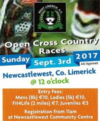 Open Cross Country race...Sun 3rd Sept 2017