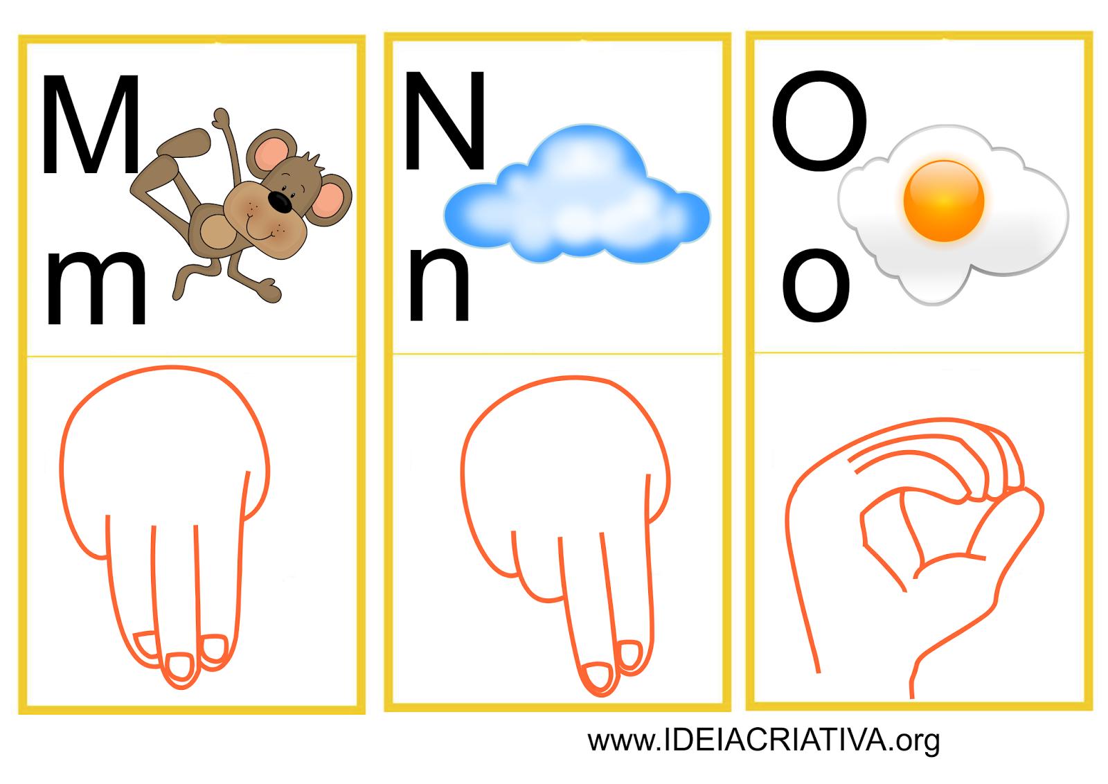 LIBRAS: UMA LÍNGUA QUE SE VÊ.: Flash Cards Letras do Alfabeto Libras #CB4100 1600 1132