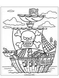 EN CLASE DE 2 B Barco pirata para colorear