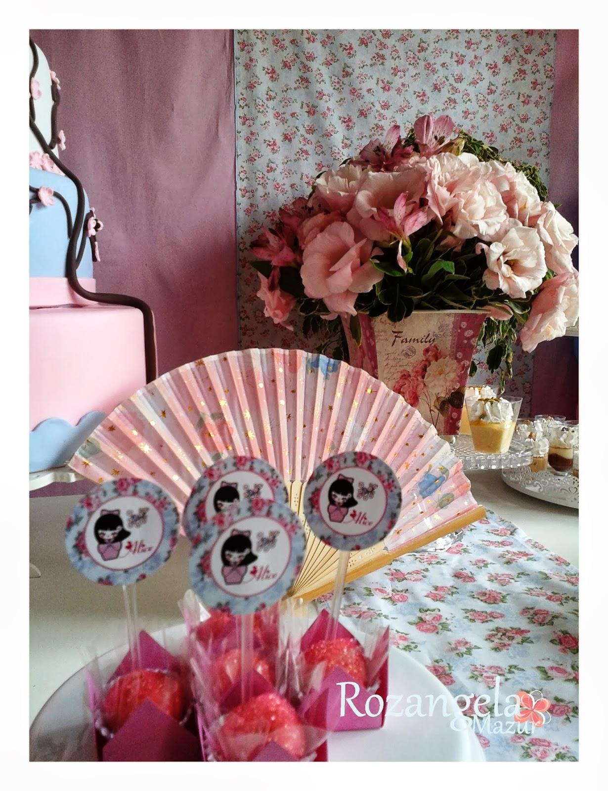decoracao festa kokeshi:Festa Infantil por Rozangela Mazur: Kokeshi para a encantadora Alice!