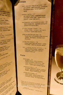 Thyme Menu Right Page