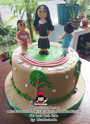 Kue Tart Fondant Lari daerah Surabaya - Sidoarjo