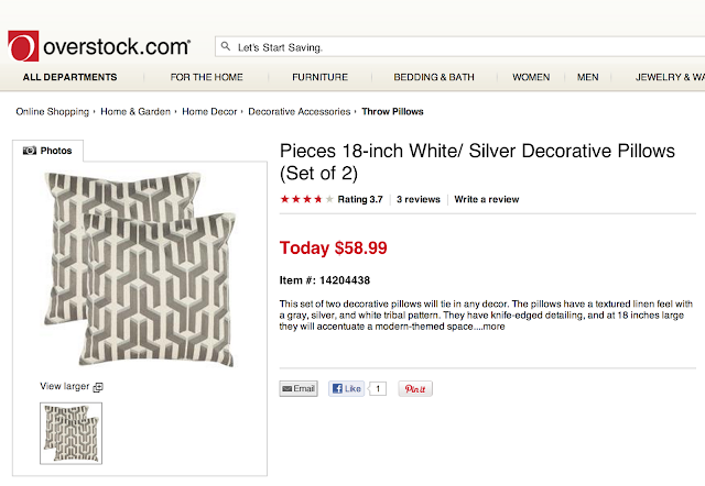 OVERSTOCK PIECES WHITE AND SILVER DECORATIVE PILLOWS