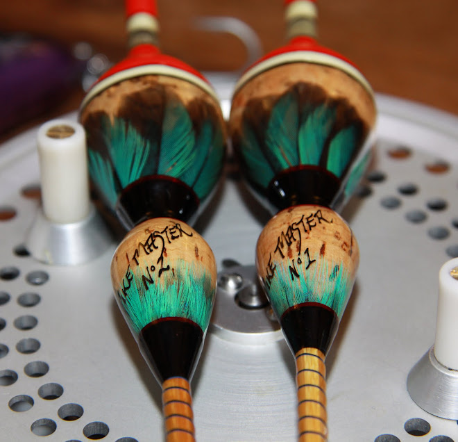 Limited Edition Numbered Double Cork Bodied, Kingfisher Feathers, Quill Tips & Split Cane Rod Stems
