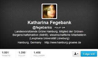 Twitter-Account Katharina Fegebank (Bündnis 90/Die Grünen)