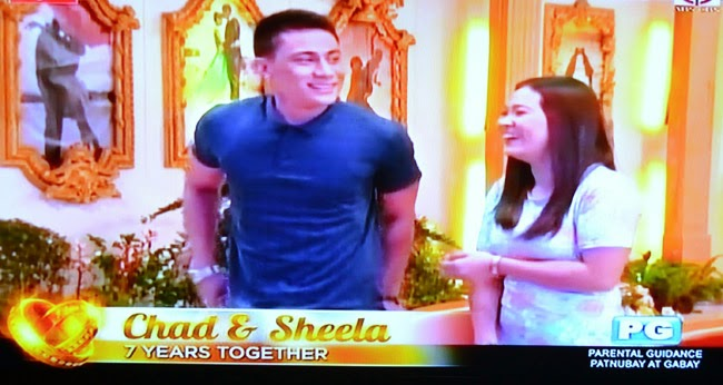 Couple Chad and Sheela on Realiserye 'I Do' of ABS-CBN