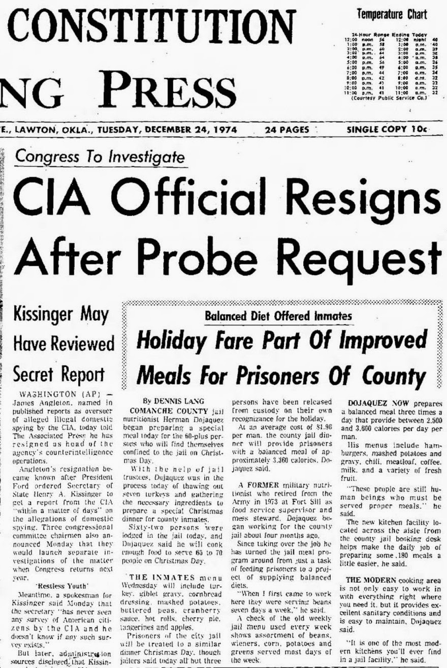 stevenwarran research  24 1974 ap the lawton constitution okla page 1 congress to investigate cia official resigns after probe request