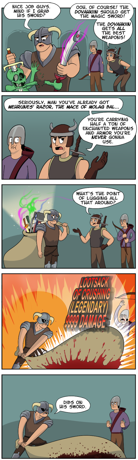 Skyrim comics, Elder Scrolls V comics, funny game
