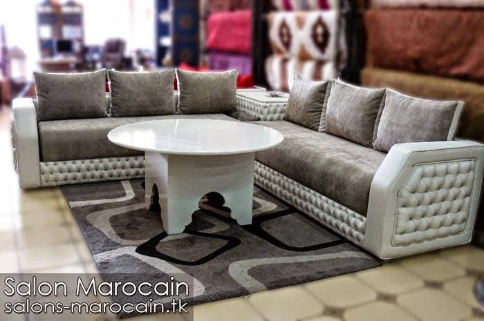 Nouveau Salon marocain moderne gris 2014
