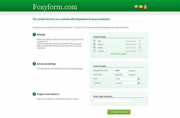 create a simple contact form for blogger