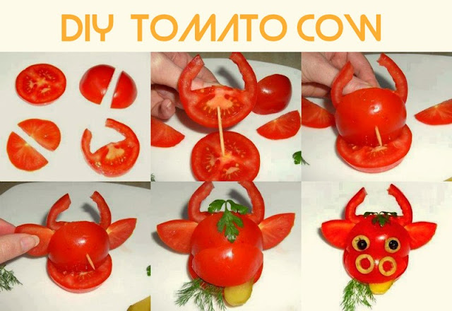 DIY Tomato Cow