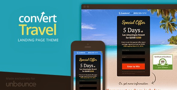 PSD Travel Website Template
