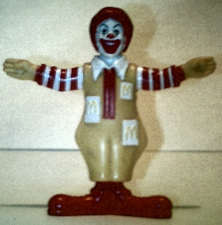 Front of Ronald McDonald without Frankenstein costume