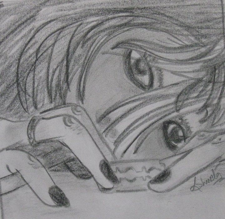 Pencil skecthes ending life pencil sketch of a girl