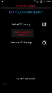 Galaxy S5 G900F EFS imei Yedekleme Uygulaması İndir