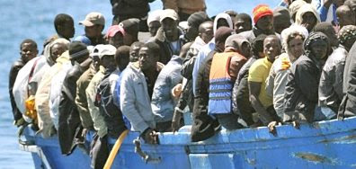 Lampedusa: boatload of refugees #7