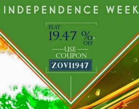 Zovi Clothing, Footwears & Accessories upto 70% + 20% off on Rs.501+ upto 20% off + upto 5% off